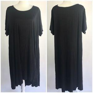 Joan Vass Short Sleeve High Low Dress